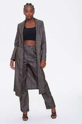 Forever 21 Glen Plaid Duster Jacket