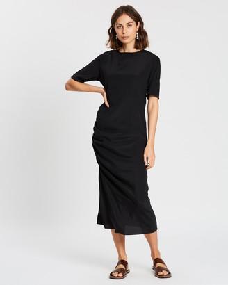 MATIN Ruched Skim Dress