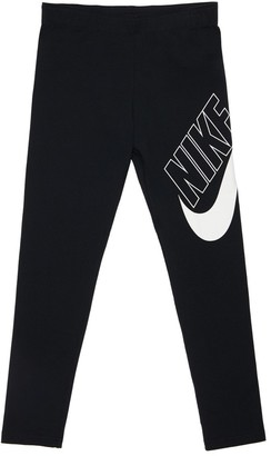 Nike Logo Print Cotton Blend Leggings