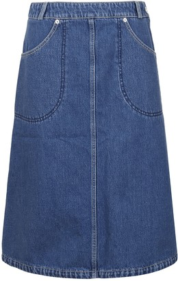 Kenzo Knee Length Denim Skirt