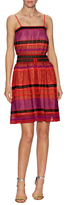 M Missoni Knit Spaghetti Straps Flared Dress
