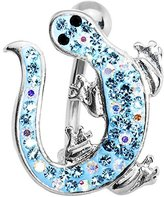 Body Candy Brilliant Blue Izzy Lizzy Curvaceous Lizard Belly Ring