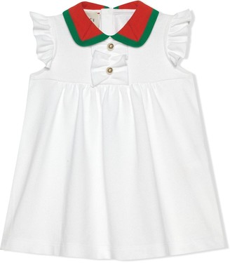 Gucci Kids Baby cotton piquet dress