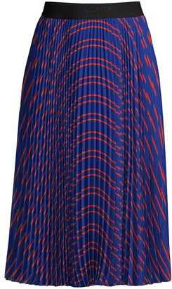 Escada Sport Pleated Print Skirt