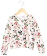 Armani Junior Girls' Jewel-Embellished Floral Print Cardigan w/ Tags
