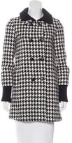 Alice + Olivia Houndstooth Double-Breasted Coat