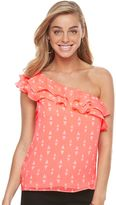 Apt. 9 Women's Ruffle One-Shoulder Top