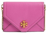 Tory Burch Kira Leather Envelope Clutch - Purple