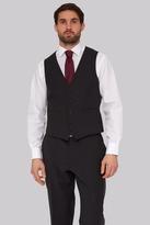 Moss Esq. Performance Regular Fit Charcoal Waistcoats