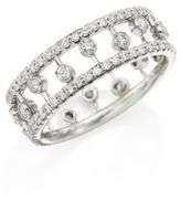 De Beers Dewdrop Diamond & 18K White Gold Ring