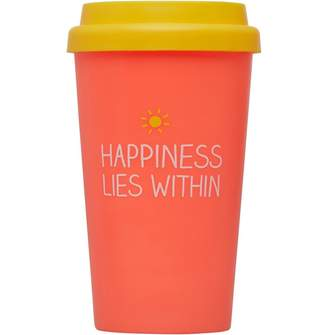 clear Happy Jackson Travel Mug Happiness Lies Within