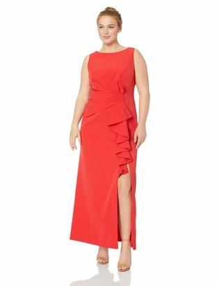 Brinker & Eliza Women's Ruffle Front Formal Dress