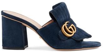 Gucci Marmont Suede Sandals