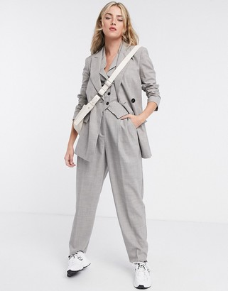 ASOS DESIGN mansy 3 piece suit blazer in taupe texture