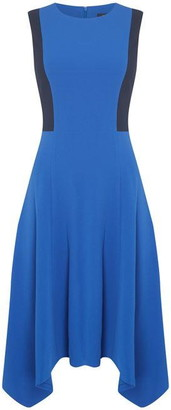 DKNY Occasion Occasion Colour Block Hankerchief Dress