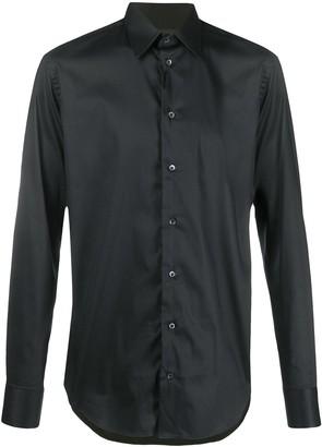 Emporio Armani Long-Sleeved Plain Shirt