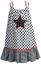Youngland Girls 4-6x Star Applique Knit Sundress