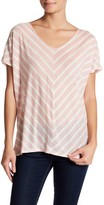 Velvet by Graham & Spencer Eisa Linen Striped Tee