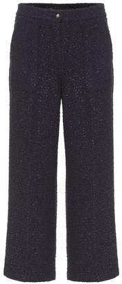 Etro Cropped cotton-blend tweed pants