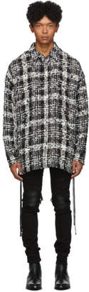 Faith Connexion Black and White Check Tweed Laced Over Shirt