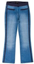 Isabel Marant Two-Tone Straight-Leg Jeans