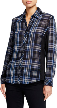 Finley Casey Combo Shimmer Plaid Shirt