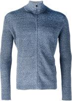 Corneliani zip-up knitted sweater - men - Cotton/Linen/Flax - 48