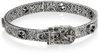 Gucci GGard Sterling Silver Buckle Bracelet