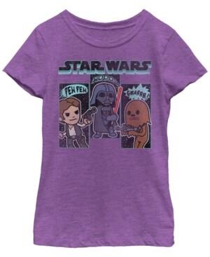 Fifth Sun Star Wars Big Girl's Simple Boba Outline Short Sleeve T-Shirt