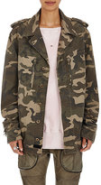 Faith Connexion Women's Fringed Camouflage-Print Canvas Jacket