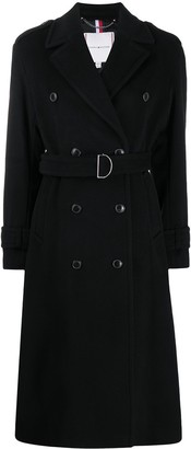 Tommy Hilfiger Belted Double-Breasted Coat
