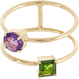 Ileana Makri Diopside, rodolite & yellow-gold ring
