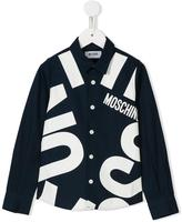 Moschino Kids logo print shirt