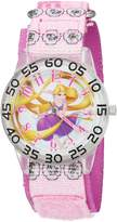 Disney Girl's 'Rapunzel' Quartz Plastic and Nylon Automatic Watch, Color: (Model: W002958)