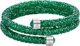 Swarovski Crystaldust double bangle, green