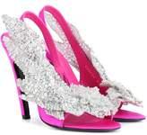 Balenciaga Embellished satin sandals