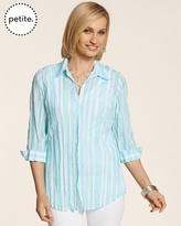 Chico's Playful Stripe Kylee Top