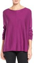 Eileen Fisher Merino Jersey Boxy Sweater (Regular & Petite)