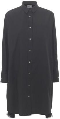 Sacai Cotton Poplin Dress W/Side Zip Detail