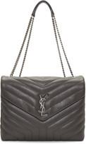 Saint Laurent Grey Medium Loulou Chain Bag