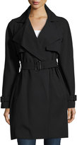 MICHAEL Michael Kors Belted Wrap Trench Coat, Black