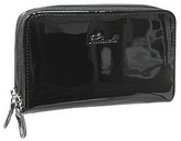 Fontanelli Black Patent Leather Zip Wallet