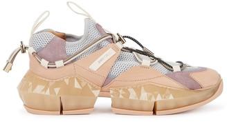 Jimmy Choo Diamond Trail Blush Leather Sneakers