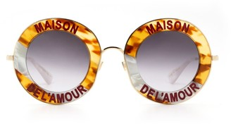 Gucci Gg0113s Havana Sunglasses