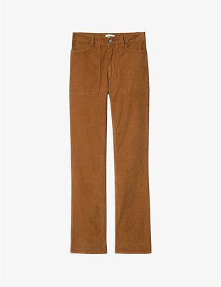 Zadig & Voltaire Pista Velours Cotele flared cotton-corduroy trousers