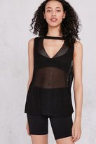 Truly Madly Deeply Mesh V-Neck Tank Top