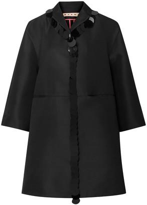 Marni Oversized Paillette-embellished Satin Coat