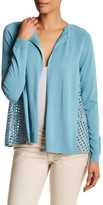 Lafayette 148 New York Relaxed Lace Back Cardigan