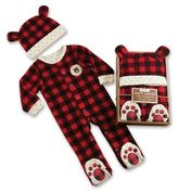 Baby Aspen Size 0-6M 2-Piece Plaid Fleece Pajama Gift Set in Red
