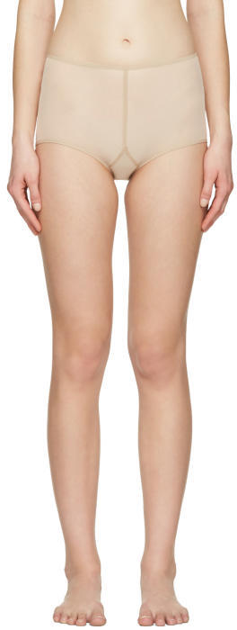Ann Demeulemeester Beige la fille dO Edition Tulle Briefs